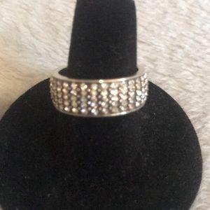 Brighton silver and in Swarovski Crystal ring